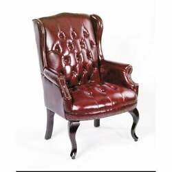 Boss Traditional Style Executive Guest Chair Burgundy
