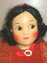 1930s Ideal Cloth Doll Walt Disney Snow White With Partial Box 16