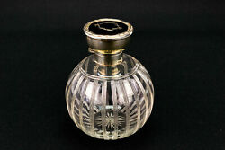 Antique Art Deco Glass And Sterling Silver Perfume Bottle 1921 Walker And Hall