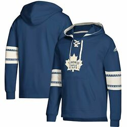 Toronto Maple Leafs Adidas Jersey Lace-up Pullover Hoodie - Blue