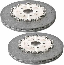 Set Of 2 Rear Brake Disc Rotors 389mm Acdelco Pro For Chevy Corvette Hd Abs J57