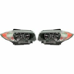 Pair Set Of Two Front Halogen Headlights Lamps Assy Valeo For Bmw E82 E88 11-13