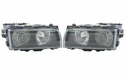 Pair Set Of Left And Right Genuine Halogen Headlights Lamps For Bmw E38 7-series