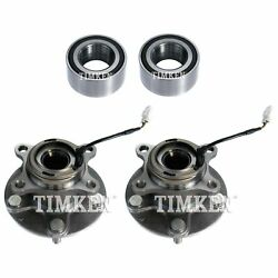 Front And Rear Wheel Bearing And Hub Assembly Kit Timken For Suzuki Sx4 Awd 07-13