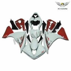 Fu Glossy White Red Injection Mold Fairings Fit For Yamaha 2009-2011 Yzf R1 N003