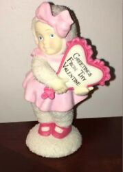 Dept 56 Snowbaby Holding Heart Snowbabies Greetings From Thy Valentine