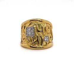 Seidengang 18k Yellow Gold And 0.20tcw Diamond Love Of Life Ring Size 6.5