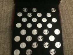 American Eagle One Ounce Silver Proof 30 Different Coin Lot