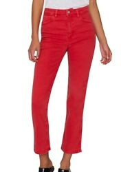 Sanctuary Women's Jeans Red Size 27 Denim High-rise Cropped Stretch 89 579