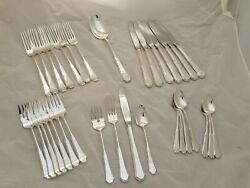 Sterling Reed And Barton Flatware Set American Federal No Mono Mint Cond
