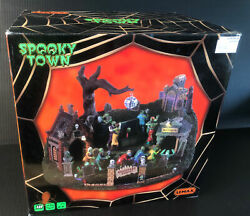 Lemax Spooky Town Graveyard Party'-' 94488 New In Box Mib Halloween