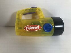 Vintage 1986 Playskool Clear Yellow Flashlight Color Changing Red Green Tested