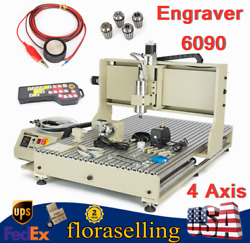 Cnc 6090 4 Axis Router Engraver 3d Cutter Engraving Milling Machine W/controller