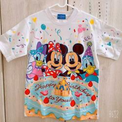 Tokyo Disneyland Limited Happy Birthday T-shirt Discontinued Products