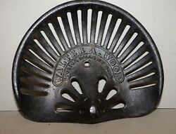 Walter A Wood Hoosick Falls Ny Tractor Seat Horse Drawn Mower Collectible Iron