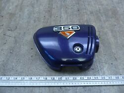1972 Honda Cb350 Twin H149-2 Purple Right Side Cover Panel With Emblem