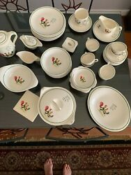 Steubenville China, Complete Set Of 40- Serving For 8 ,missing Only 1 Cup.