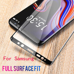 Curved Full Cover Tempered Glass For Samsung Galaxy S21 S20 S10 S9 S8 Note9 Lot