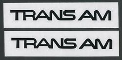 2x TRANS AM Pontiac 6quot; Black Decals Stickers for Cars Windows Toolbox...