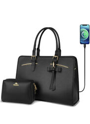 New Laptop Women Tote Bag Work Briefcase with USB Charging Port Business Handbag $59.99