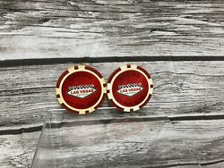 Camel Las Vegas Casino Poker Chips Red Vintage Lot Of 2 Rare Look Discoloration
