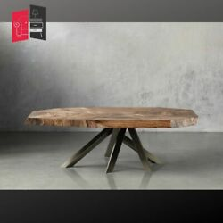 Industrial Live Edge Solid Wood Coffee Table 140x85x45 Made To Order