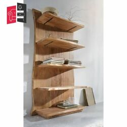 Industrial Live Edge Solid Wood Bookshelf With 5 Shelf Made To Order
