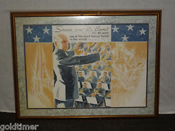 Vintage Music Conductor John Philip Sousa And His Band Large Framed Poster Print