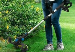 Electric Lawn Mower Li-ion Cordless Grass Trimmer Auto Release String Cutter