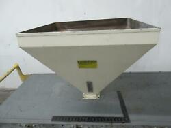 Industrial Plastic Resin Hopper 31x29x27 Inches