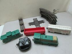 Vintage Toy Train Marx Western Pacific 702 Engine Cars Track Power Supply