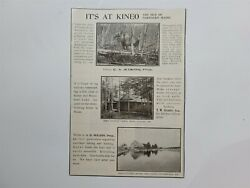 Kineo Maine Camp West Outlet Camps East Outlet Camps 1909 Advertisement Rare