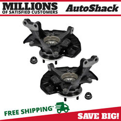Front Wheel Hub Bearing And Steering Knuckle Assembly Pair 2 For Toyota Avalon V6