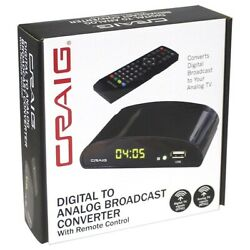 New Craig Digital To Analog Broadcast Converter with Remote Control CVD509n