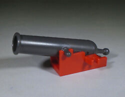 new LEGO pearl dark gray Shooting Cannon 29978 with new red Base 2527