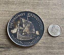 Hjemkomst Expedition Coin Token 999 Fine Silver Duluth Mn Oslo Norway 1982