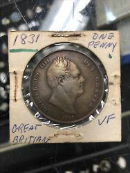 Great Britain 1831 One Penny King William Iv World Coin