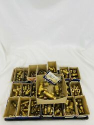 Lot Of 167 Vintage Old Stock Brass Fttings Assorted Sizes And Shapes