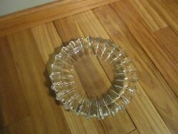Vintage Sunburst Ashtray Extra Large Clear Glass 10 Mcm Will Fit Smoking Stand