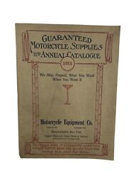 Antique Lot 1914 Meco 11th Annual Motorcycle Supply Catalog Plus 2 Extras Read