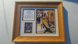Kobe Bryant Framed Official Nba Photo + Card + Stats To 2003 Lakers