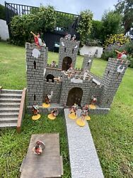 Vintage Fort / Toy Castle Circa 1940and039s. Plywood Construction With Roman Figures