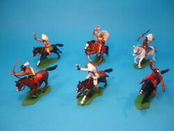 Britains Dsg Indians Mounted 6 Figures Far West Plastic Toy Soldiers