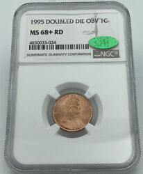 1995 Doubled Die Obv Ngc And Cac Ms68+ Rd Lincoln Memorial Penny