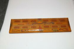 Vintage Butterscotch Bakelite Catalin Cribbage Board With Dragons