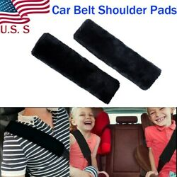 Black Car Safety Seat Belt Shoulder Pads Cover Cushion Harness Comfortable Pad