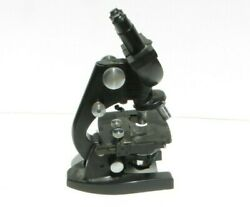 American Optical Binocular Ao Spencer 3 Stage Microscope B-35-58 With Lenses