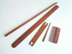 Knitting Weaving Tools for Tapestry Loom: Needle Shuttle Shed Stick Comb Dowel