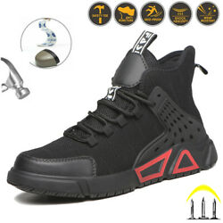 Menand039s Safety Boots Anti Smash Non Stab Lightweight Shoes Steel Toe Cap Outdoor