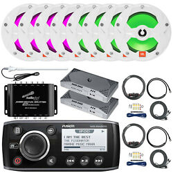 Msra205 Am/fm Aux Bluetooth Stereo6x Jbl 6.5 White Led Speakers2x Amps+extras